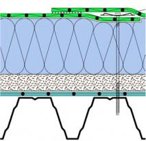 Jednoplášťová střecha s klasickým pořadím vrstev